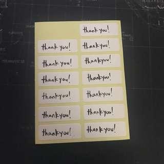 🚚 handwritten sticker labels