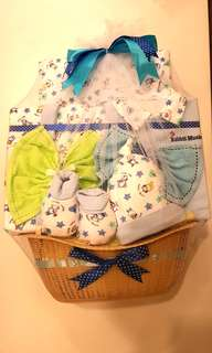 Newborn Baby Clothes Gift Set (White/Blue)
