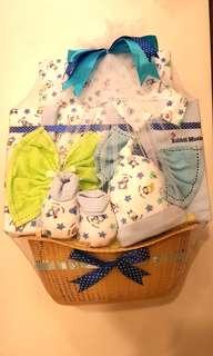Newborn Baby Clothes Gift Set (White/Blue)