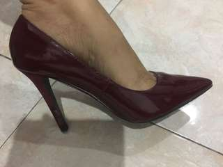 zara red silletos