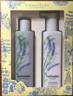 NEW Crabtree & Evelyn Lavender Bath & Shower Gel + Body Lotion Gift Set