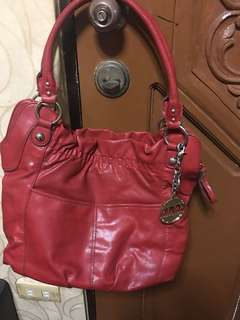 Authentic Preloved ELLE red hobo bag