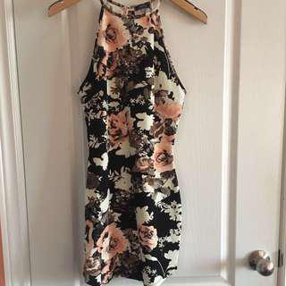 M BOUTIQUE Floral Hi-Neck Bodycon Dress