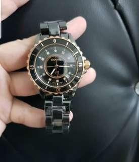 Chanel watch with swaroski brand new