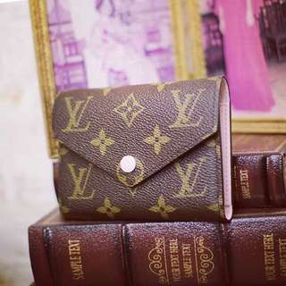LV Louis Vuitton Brand New Compact Wallet in Pink inside
