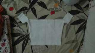 White Ribbed Off Shoulder Crop Top