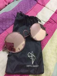 Doppelganger rosegold sunglasses