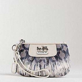 Authentic Coach Op Art Ikat Wristlet