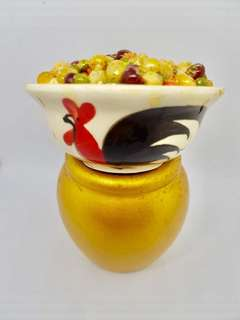 Chicken hen bowl vintage retro
