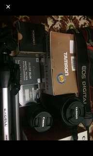 Canon d1100 + semua perangkatnya