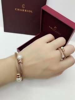 Charriol 2in1 set bracelet & ring