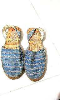 Plus Size Fabric Sandals