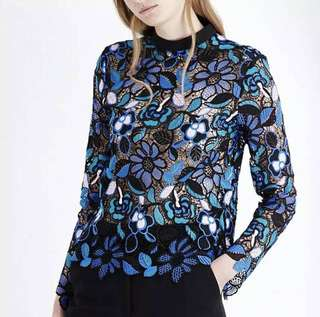 PO - Elegant Flower Lace colourful Blouse