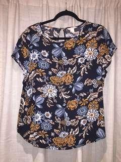 Authentic H&M Floral Blouse Plus size