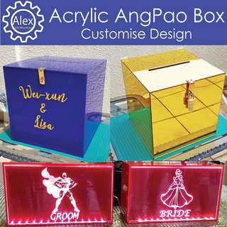 🚚 Custom Ang Pao Boxes -Specially handcrafted to suit your style for your big wedding!