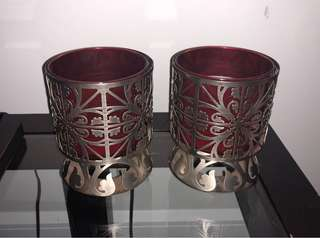 Bath & body works candle holders and candles