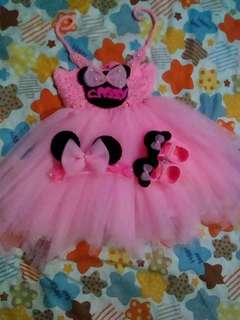 Minnie mouse crochet top tutu dress