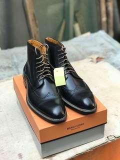 Sepatu Boots mario cuomo made italia new