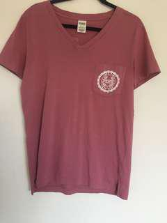 Pink by Victoria sercrets v-neck t-shirt