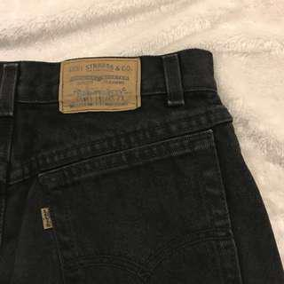 Levi black denim skirt