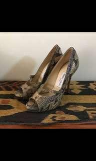 Original Jimmy Choo Snakeskin Heels