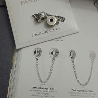 Pandora Safety Chain cubic zirconia