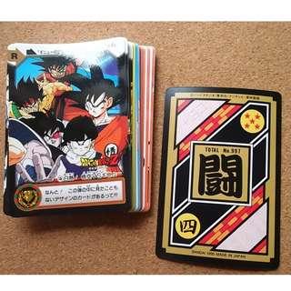 Dragonball carddass hondan GT part 25 normal cards set