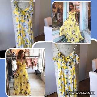 Hello Floral Banjul Dress Size Small