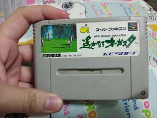 New 3D Golf Simulation Super Famicom Cassette