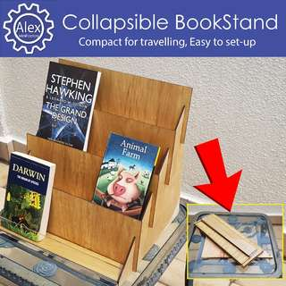 🚚 Custom Bookshelf - Collapsible to use on-the-go. Display Cards,Books,Products.