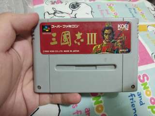 Three Kingdom 3 Super Famicom Cassette