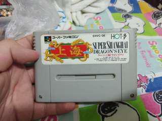 Super Shanghai Dragon Eye Super Famicom Cassette