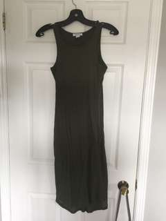 Summer Dress - Olive Green