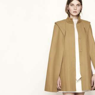 Maje Cape Coat in Cashmere and Wool in Camel (Sz 36)