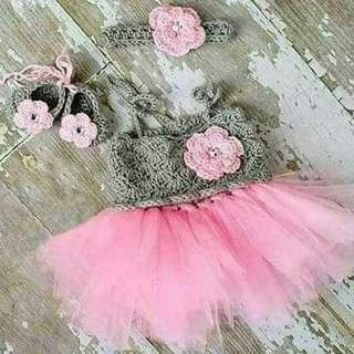 Crochet top tutu dress (super nice -0 to 12months