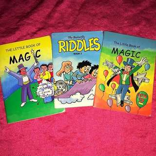 1 Set-3 Magic Tricks & Riddles Books