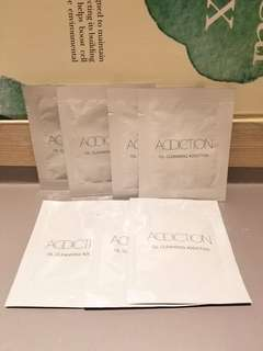 Sample全新一套7件專櫃直送(每件3ml) Addiction Cleansing Oil 潔面缷粧油