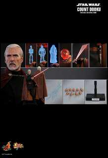 Hottoys MMS496 星球大戰 STAR WARS EPISODE II: ATTACK OF THE CLONES COUNT DOOKU 1/6TH SCALE 訂單次日