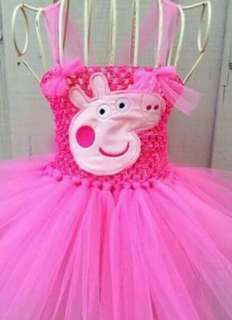 Peppa pig crochet top tutu dress