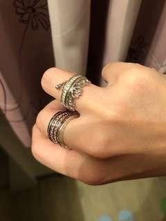 🚚 絕版👑鑽戒 正18k鑽圍可拆式 可戴不同風格 銀樓購入附保證書