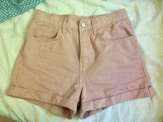 StyleNanda Pink Denim Shorts