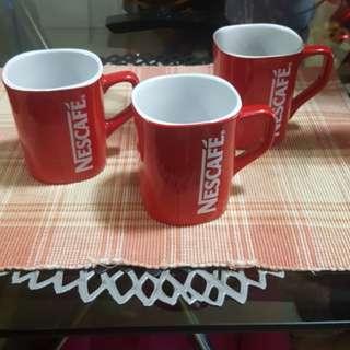 Take all 3pcs Brandnew Nescafe red mug