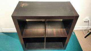 Ikea Style, TV Stand (Color: Black/Brown)