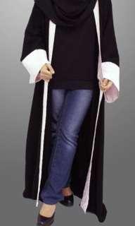 Plain Black + Grey Abaya/ Long Cardigan