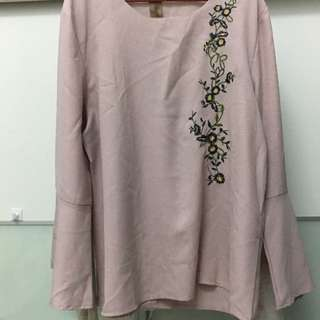 Embroidered Flower Blouse