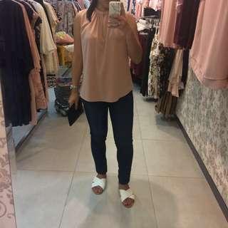 Brand New Woman Peach Sleeveless Top