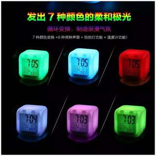 Color Changing Digital Clock