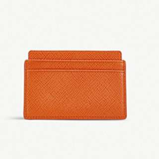 SMYTHSON Panama leather card holder