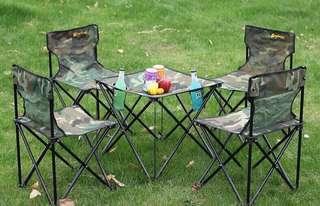 Foldable Outdoor Chairs & Table Set