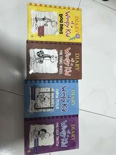 Diary of a wimpy kid (hardcovers) - $8 each